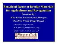 Beneficial Reuse of Dredge Materials for Agriculture and Revegetation