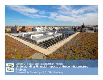 Understanding Financial Impacts of Green Infrastructure Projects