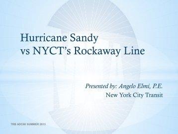 Hurricane Sandy vs NYCT's Rockaway Line
