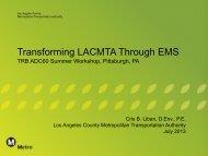 Transforming LACMTA Through EMS