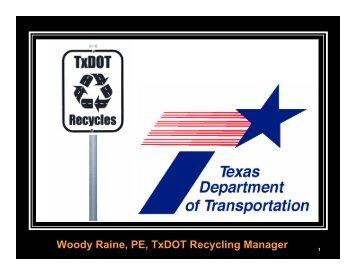 TxDOT Recycles