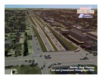 Marsha Sharp Freeway Soil and Groundwater Management Plan