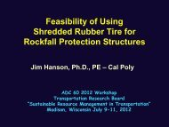 Feasibility of Using Shredded Rubber Tire for Rockfall Protection Structures
