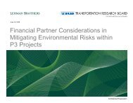 Financial Partner Considerations in Mitigating ... - Trb-adc60.org