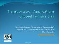 Steel Slag: AvSpecifications, Environmental ... - Trb-adc60.org