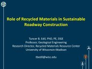 Role of Recycled Materials in Sustainable Roadway Construction