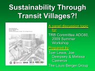 Sustainability Through Transit Villages?! - Trb-adc60.org