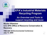 EPA's Industrial Materials Recycling Program