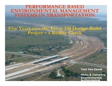 PERFORMANCE BASED ENVIRONMENTAL ... - Trb-adc60.org