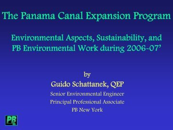 The Panama Canal Expansion Program