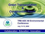 Green Transportation & Construction Focus
