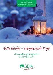 Veranstaltungen im Dezember 2011