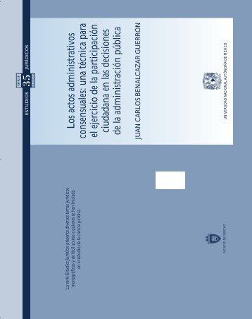 Los actos administrativos consensuales - Facultad de Derecho