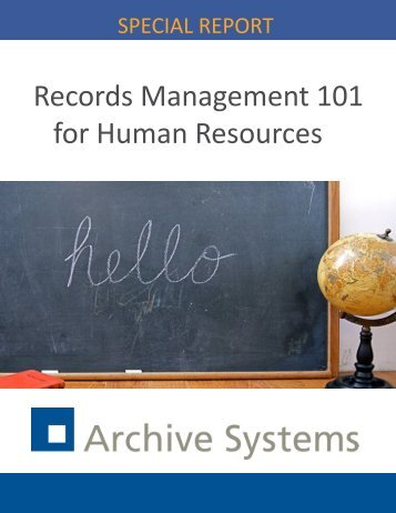 Records Management 101 for Human Resources