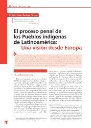 El proceso penal de los Pueblos indígenas de Latinoamérica: Una ...