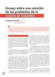 Ensayo sobre una solución de los problemas de la Justicia en Colombia