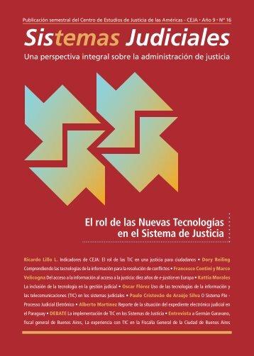 El rol de las Nuevas Tecnologías en el Sistema de Justicia