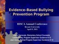 Evidence-Based Bullying Prevention Program