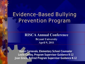 Evidence-Based Bullying Prevention Program