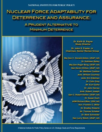 Deterrence and Assurance