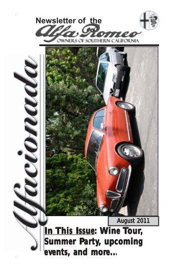 Aug - Alfa Romeo Owners of Southern California