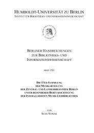 Die USA-Sammlung: - HU Berlin