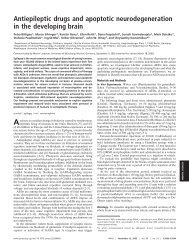 Antiepileptic drugs and apoptotic neurodegeneration in the ...