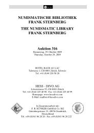 NUMISMATISCHE BIBLIOTHEK FRANK STERNBERG THE ...