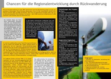 Chancen für die Regionalentwicklung durch Rückwanderung