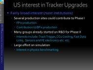 US interest in Tracker Upgrades