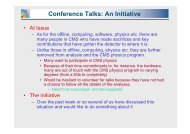 Conference Talks An Initiative