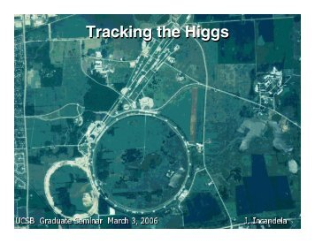 Tracking the Higgs
