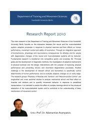 Research Report 2010 - Institut für Sportwissenschaft - Humboldt ...