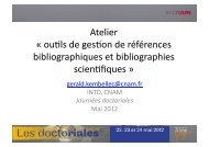 Atelier « ousls de gesson de références bibliographiques et ...