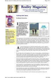 Fishing with Jesus Page 1 of 3 Reality. Issue 59 ... - Fairservicenz.com
