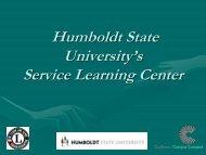 Download Humboldt State University's presentation