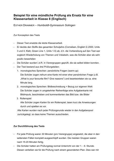 Mundliche Prufung Englisch Abitur Beispiel Mundliche Abitur 2020 01 09