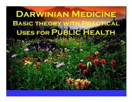 Darwinian Medicine - World Health Organization