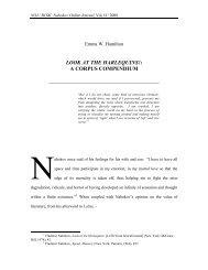 LOOK AT THE HARLEQUINS!: A CORPUS COMPENDIUM