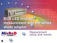 RGB LED module measurement with the series diode adaptor