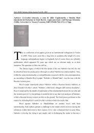 Nabokov: Un'eredità letteraria , a cura di Alide Cagidemetrio e ...