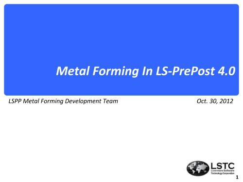Metal Forming In LS-PrePost 4 0
