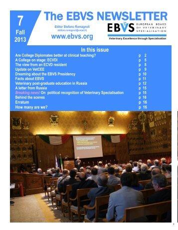 The EBVS NEWSLETTER - ECAR