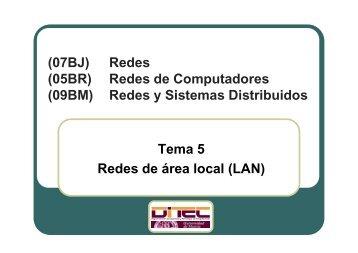 Redes y Sistemas Distribuidos Tema 5 Redes de área local