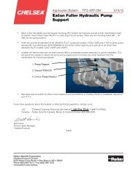 Eaton Fuller Hydraulic Pump Support