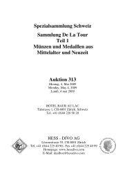 Spezialsammlung Schweiz Sammlung De La Tour Teil 1 Münzen und