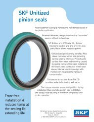 SKF Unitized pinion seals