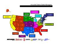 Accuride District Sales Managers