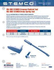 195-1001 STEMCO Crewson Pushrod Tool 195-1002 STEMCO Brake Spring Tool
