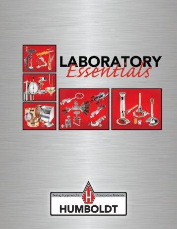 Humboldt Laboratory Essentials - Humboldt Mfg. Co.
